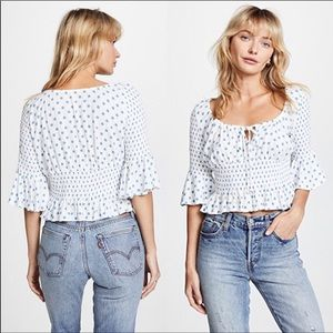 NWT Free People A Bit of Something Sweet Crop Top